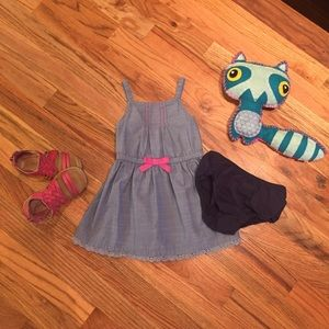 Cherokee 18 month chambray dress with bloomers
